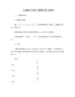 人教版小升初数学复习资料精华版.doc