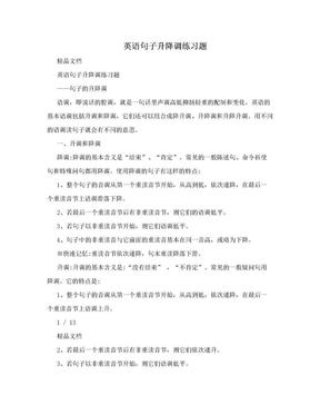英语句子升降调练习题.doc