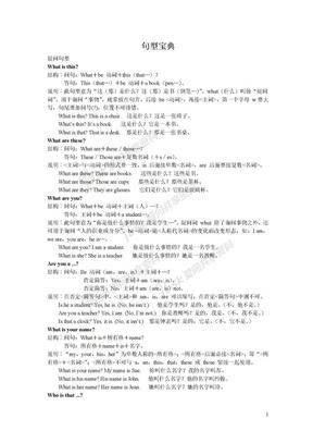 英语学习句型宝典完整版.doc
