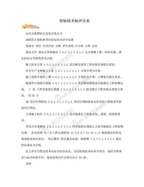 招标技术标评分表.doc