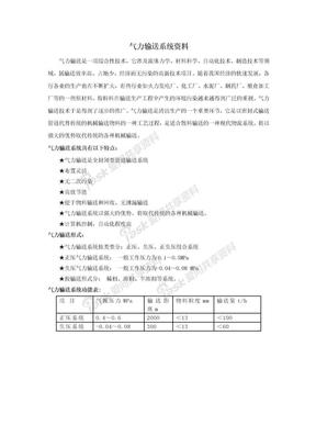 气力输送系统资料.doc