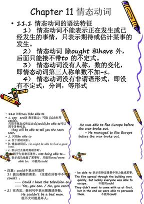 耶鲁专升本英语语法第十一章 助动词和情态动词.ppt