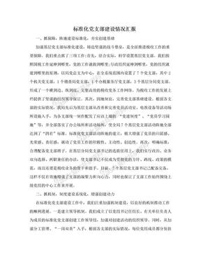 标准化党支部建设情况汇报.doc