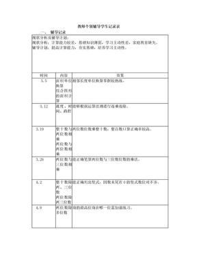 个别辅导学生记录表2014下.doc