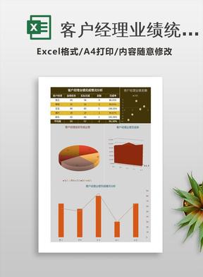 客户经理业绩统计分析Excel模板表格.xlsx