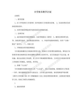 小学体育教学计划.doc