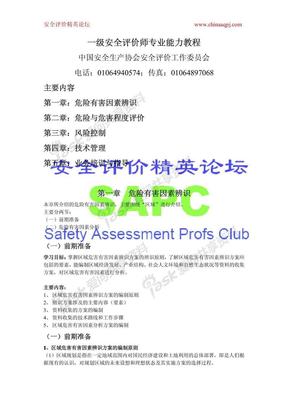 一级安全评价师专业能力教程第二版..pdf