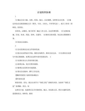 计划组织协调.doc