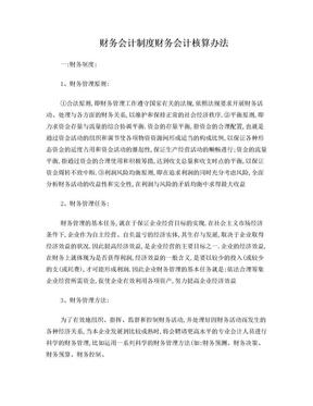财务会计制度财务会计核算办法.doc