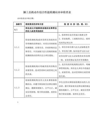 内审检查表.doc