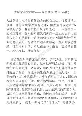 大成拳毛发如戟——内劲修炼.pdf