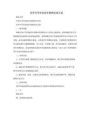 兴华中学年度青年教师培训方案.doc