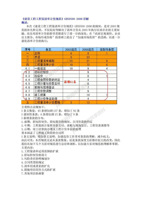 《建设工程工程量清单计价规范》GB50500-2008详解.doc