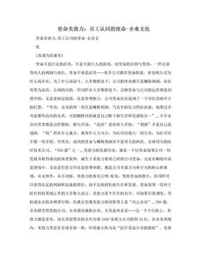 使命美敦力:员工认同的使命-企业文化.doc