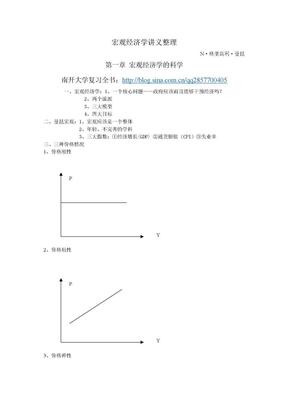 南开大学考研_曼昆宏观经济学精要笔记.doc