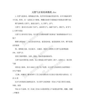 天然气计量培训教程.doc