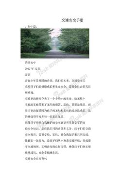 交通安全手册.doc
