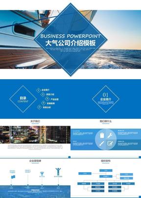 大气公司介绍产品展示 品牌宣传 企业宣传等模板53p