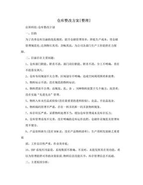 仓库整改方案[整理].doc