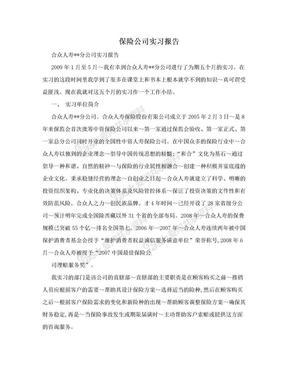 保险公司实习报告.doc