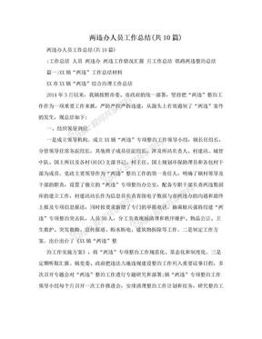 两违办人员工作总结(共10篇).doc