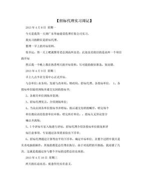 【招标代理实习周记】.doc