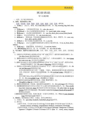 高中英语语法大全高中英语语法.doc
