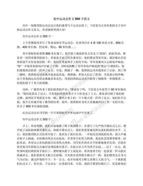 初中运动会作文500字范文.docx
