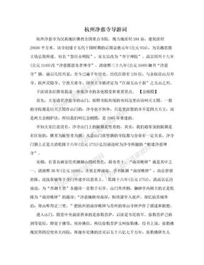 杭州净慈寺导游词.doc