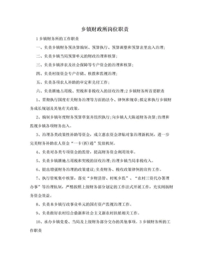 乡镇财政所岗位职责.doc
