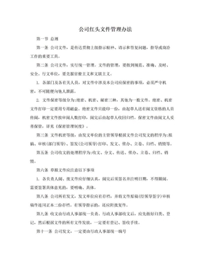 公司红头文件管理办法.doc