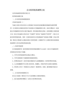 公司组织机构调整方案.doc