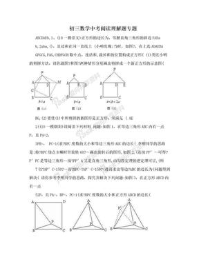 初三数学中考阅读理解题专题.doc