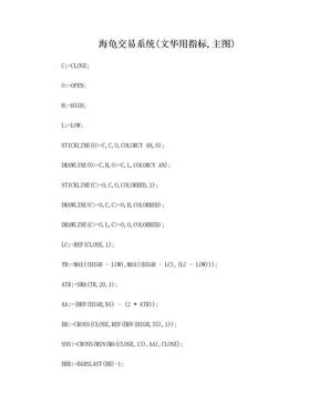 海龟交易系统(文华财经用 技术指标).doc
