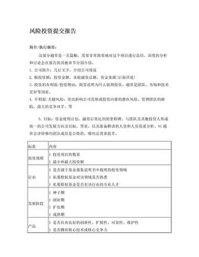 风险投资提交报告.doc
