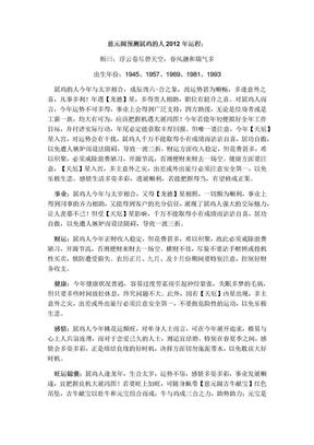慈元阁预测属鸡的人2012年运程,龙年生肖运程2012.docx