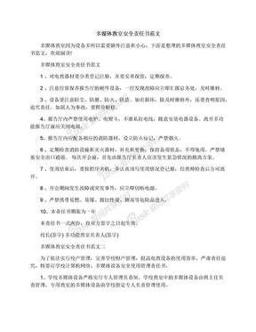 多媒体教室安全责任书范文.docx