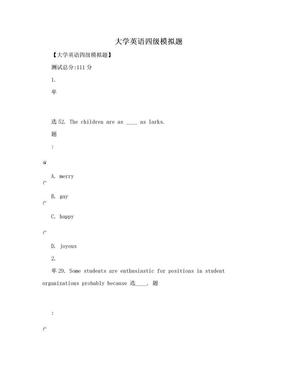 大学英语四级模拟题.doc