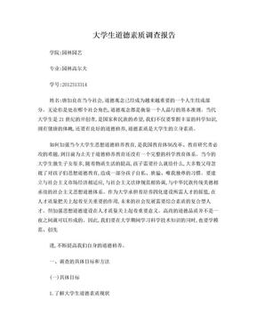 大学生道德素质调查报告.doc