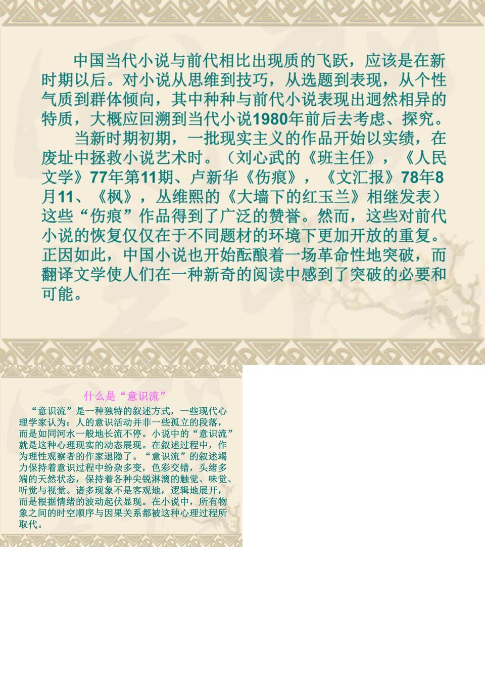 王蒙的意识流小说.ppt