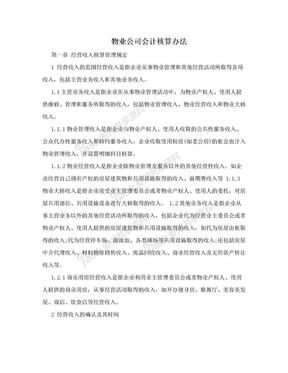 物业公司会计核算办法.doc