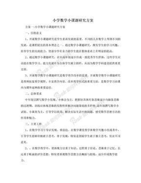 小学数学小课题研究方案.doc