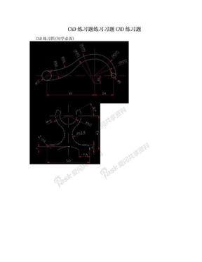 CAD练习题练习习题CAD练习题.doc