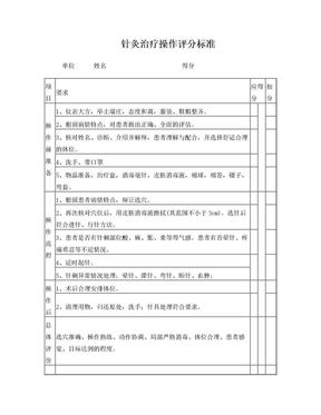 针灸治疗操作评分标准.doc