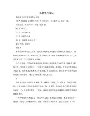 监狱实习周记.doc