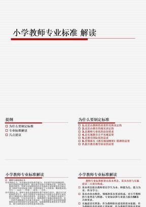 小学教师专业标准解读PPT.ppt