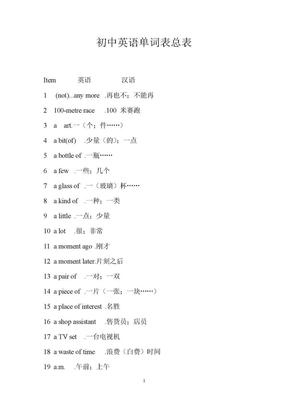 初中英语单词表总表(整理).doc