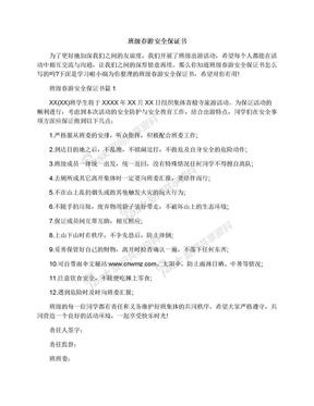 班级春游安全保证书.docx