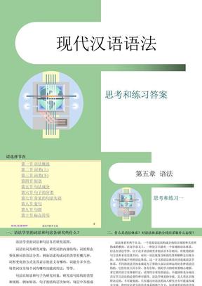 现代汉语语法.ppt