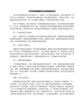 大学生寒假销售员社会实践报告范文.docx